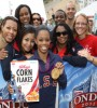 London 2012 Olympic Gymnastics all-around gold medalist Gabby Douglas receives her very own special edition box of Kellogg's Corn Flakes, which will hit stores this fall  (Image:Scott Halleran/Getty Images for Kelloggs)