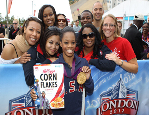 gabby douglas with fans