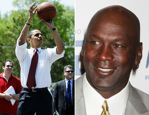 Obama, Michael Jordan Host Basketball Fundraiser in New York