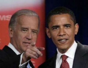 obama and biden smiling and pointing