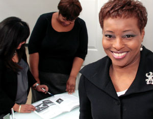 black female business owner