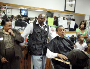 obama in black barbershop