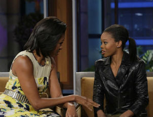 First Lady Michelle Obama Teases Gabby Douglas' Love For Fast Food
