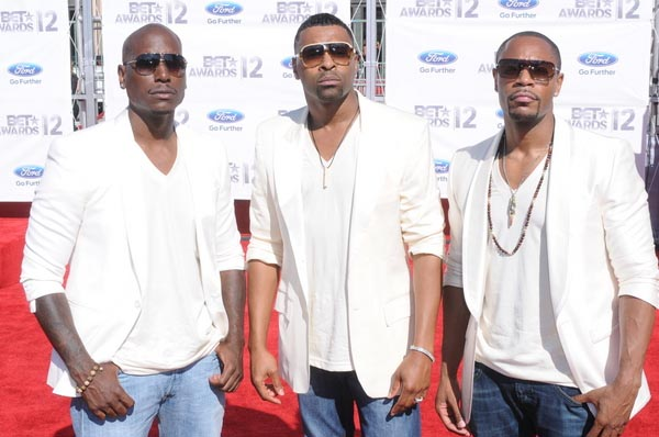 Tyrese, Ginuwine and Tank (TGT) at the 2012 BET Awards. [Photo Credit: Aaron J. Thornton/PR Photos]
