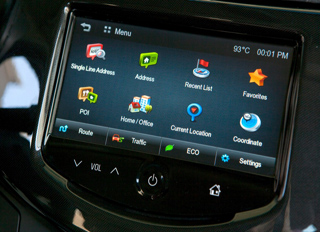 The 2013 Chevrolet Spark will feature the new BringGo embedded smartphone navigation app (Image: GM)
