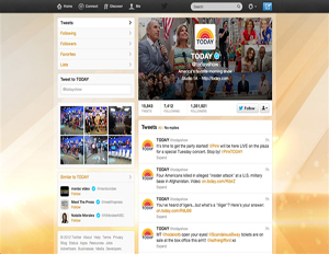 """Twitter unveils new layout on NBC's """"Today"""" show (Image: Today show/Twitter)"""