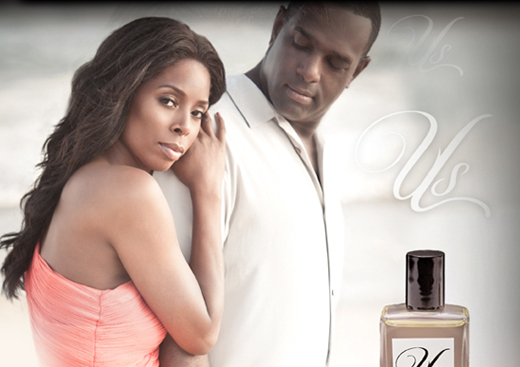 Tasha Smith and her husband Keith Douglas strike a pose for their fragrance, Us.