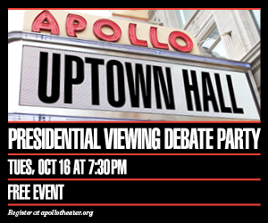 Apollo Uptown Hall Series Presents Free Presidential Debate Viewing Party