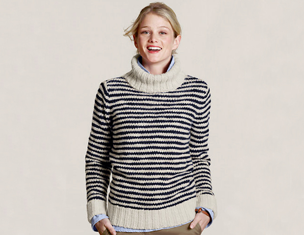 Wear this chunky knit sweater with a pencil skirt on Monday or wear it on Saturday for a weekend of errands. Either way you spin it, this sweater will work well with your wallet and your wardrobe. Land's End, $23.97