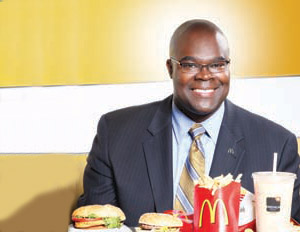 McDonald's CEO Don Thompson told Bloomberg that McDonald's pays above the minimum wage and will continue to provide entry-level jobs.