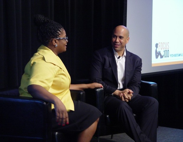 Mayor Corey Booker spoke to the audience about his new venture, Waywire,  a video-sharing news service open to everyone. Booker also touched on the centrality of purpose and how to determine if what you're doing is  making a difference.