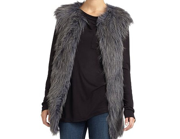 Fur Vest, $157, Saks Fifth Ave.