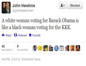 Romney Blog Contributor Tweets Outrageous Comparison