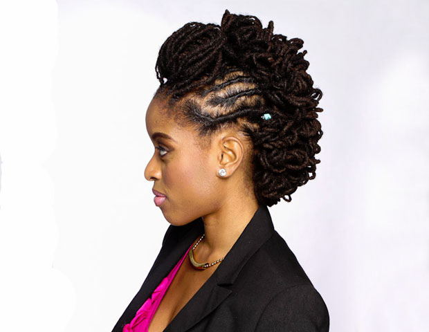 "Finishing Touches: Natural haircare stylist Maria Thompson recommends washing 'locs with a sulfate-free shampoo such as the Mizani Sulfate Free Curl Balance Moisturizing Shampoo.""You want to make sure that locs are dried properly before styling to avoid [bad] smell when styled,"" she adds. Also applying oil, such as the Mizani Supreme Oil, in between washes will help maintain moisture and add sheen."