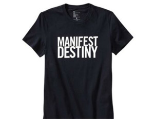 """Manifest Destiny"" shirt disturbs GAP customers"