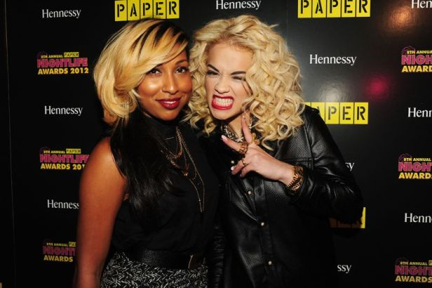 Melanie Fiona and Rita Ora ham it up for the cameras at the 8th Annual Paper Magazine Nightlife Awards