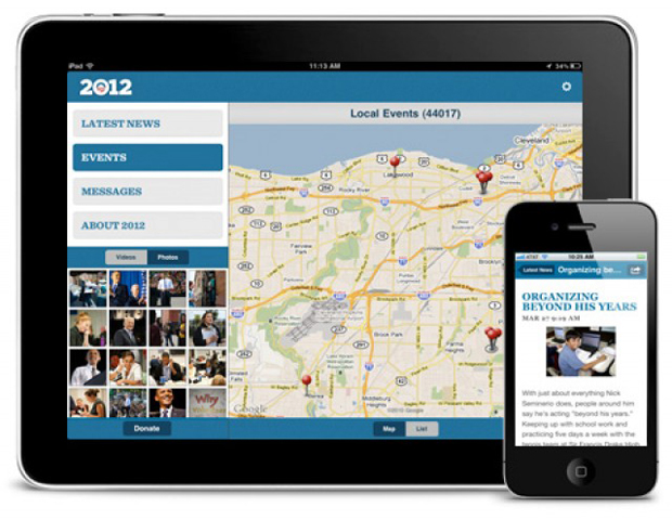 Obama for America app screen shot