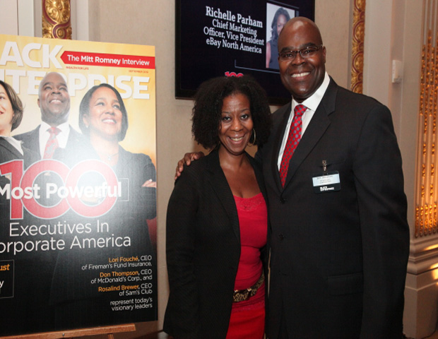 Sonia Alleyne (Multimedia Editorial Director of Black Enterprise Magazine and Don Thompson (CEO of McDonalds, Corp)