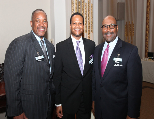 Dirk Caldwell (SVP, Director of Multimedia Sales for Black Enterprise Magazine), Anthony K. Mootry (Multimedia Sales Manager of Black Enterprise Magazine), Matthew Thornton III (SVP, U.S Operations, FedEx Express)