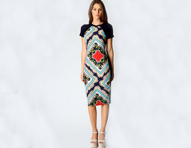 This sheath dress is the perfect silhouette to play with prints. The classic cut of the dress will have you puling it long after the print trend descends from its ladder of success. BooHoo.com, $40