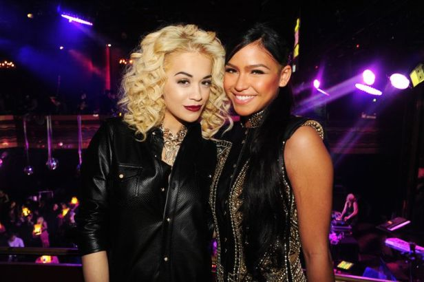 Singers Rita Ora and Cassie Ventura share smiles at the 8th Annual Paper Magazine Nightlife Awards