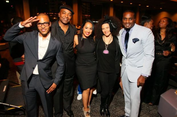 Recording artist T. I.,  music executive Michael Malden, guests and DeVyne Stephens