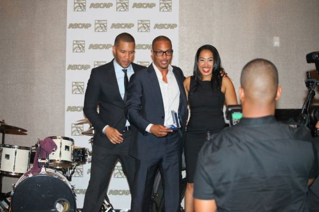 T.I. accepting his award