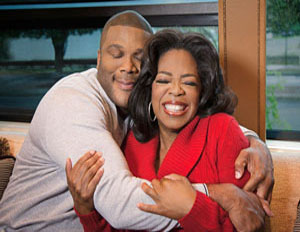 tyler perry and oprah hugging