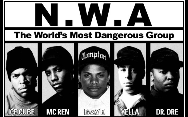 N.W.A.: One of the most controversial groups who received attention from the federal government and law enforcement in the late 80s, long before it became commonplace in Hip Hop.