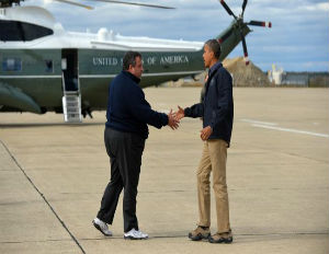 Obama Visits Hurricane Sandy Victims With Republican Chris Christie