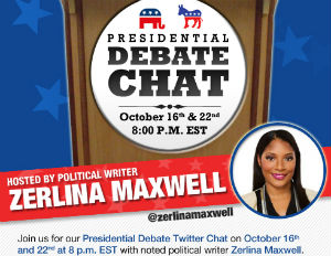 Join Our Presidential Debate Twitter Chat at 8 With Journalist Zerlina Maxwell