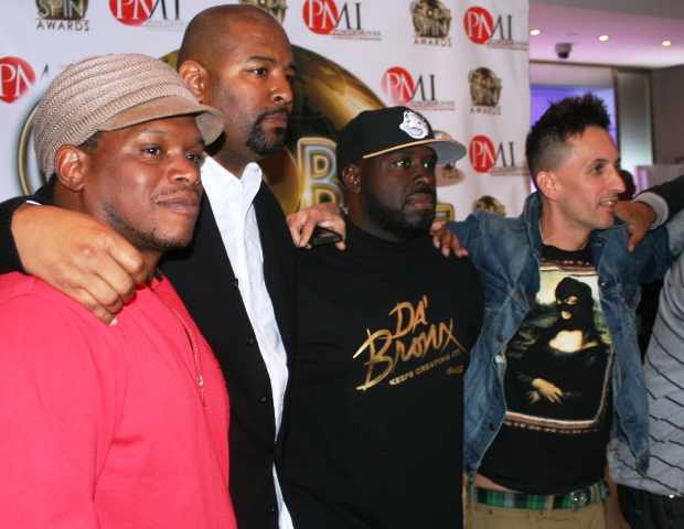 Sway Calloway (MTV), Shawn Prez (Global Spin Awards), Funkmaster Flex (Hot 97) and Clinton Sparks