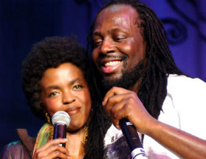 wyclef jean and lauryn hill smiling