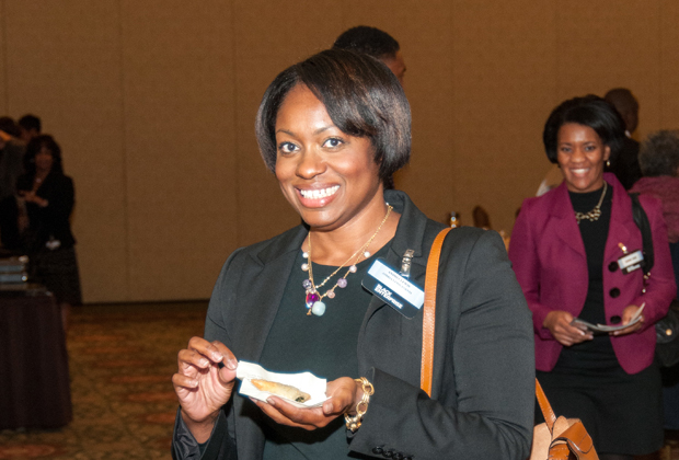 Attendees at the Education Reform Symposium reception