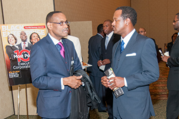 Rahim Islam, CEO of Universal Companies during the networking reception