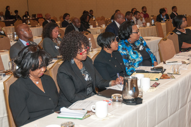 Attendees at the Education Reform Symposium in Memphis. The event was held in the afternoon to allow educators to attend