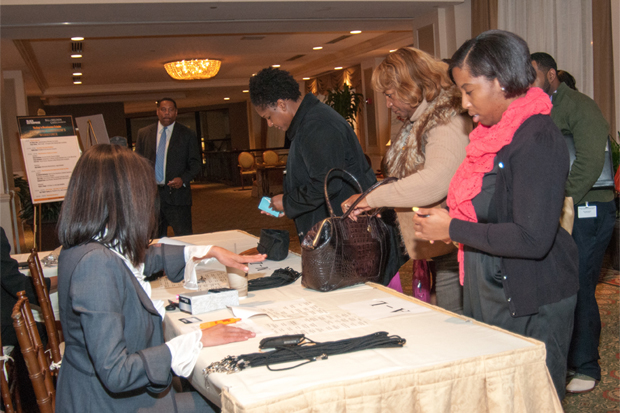 The registration desk at the Education Reform Symposium in Memphis