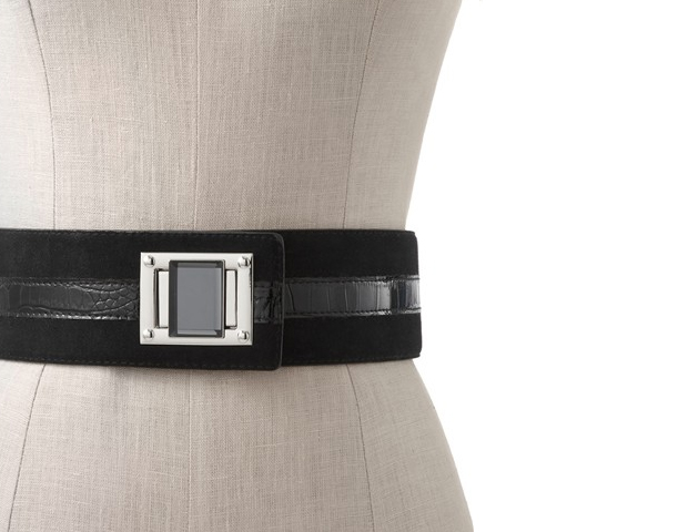 BELT: This wide belt has some similarities to the one the First Lady is frequently seen in and will pull any look into shape. White House Black Market, $24.99