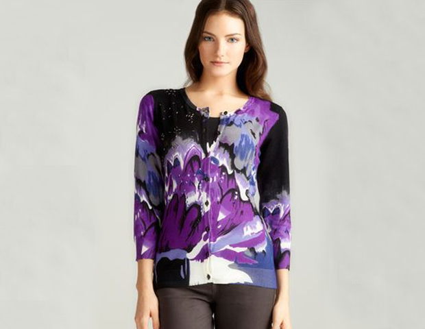 CARDIGAN: Cool and colorful cardigans are another signature style for the FLOTUS. Wear this cardigan with a skirt or slacks and belt it over a solid color top. Loehman's, $36.99