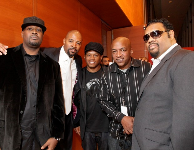 DJ Clark Kent, Shawn Prez (Global Spin Awards Founder), Sway Calloway (MTV), Ralph McDaniels (Video Music Box) and Fatman Scoop.