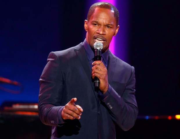 "Jamie Foxx, who will be starring in the new moving ""Django Unchained,"" onstage during the Soul Train Awards."