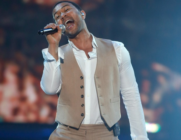 """Soul Train """"saved room"""" for John Legend as he belted out some of his new music."""