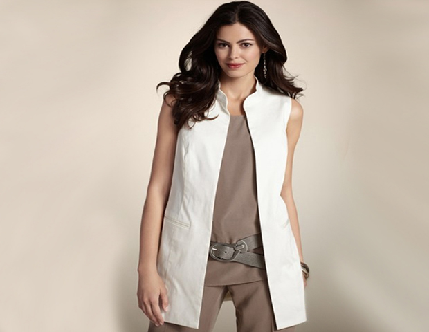 Long Vest:  A vest like this is great to layer over a dress, and gives a little more depth to your look.  Chico's, $39.98