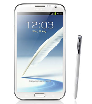 Samsung Galaxy Note II boasts an impressive 8-megapixel camera with LED flash on the rear and a 1.9-megapixel camera on the front (Image: Samsung)