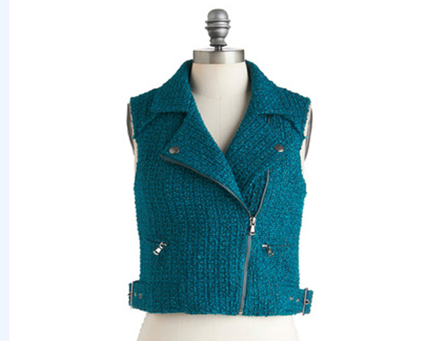 Color Motor Vest - The cut and color of the vest is such cool compliment to your closet and the tweed fabric will fit right into your office wardrobe. Modcloth, $69.99