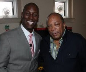 Tyrese & Quincy Jones partner for Text4Baby