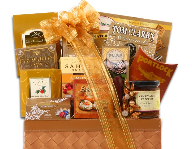 A food basket makes a great gift. It doesn't take up much space in the employee's home and after they eat the contents they're left with a beautiful basket. You can choose from a popcorn or cookie gift basket or a more formal basket containing fruits, cheeses or wine.