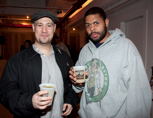 Jon Moskowitz of Universal Attractions and Brandon 'Bedlam' Matthews came out to celebrate the launch of the new video game.