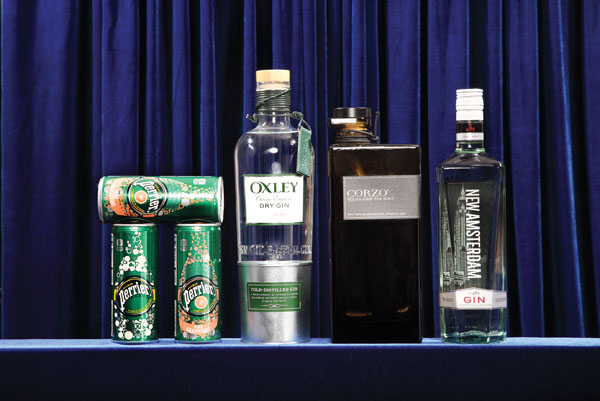 """Perrier  If you're going to mix, consider a light, refreshing, and sugar-free option. The new slender can makes an attractive addition to any setup.   GIN Oxley  Because of a special five- to six-hour cold distillation, a unique process of distilling in sub-zero temperatures, only small batches of this English gin can be made each day. Fresh and citrusy, it is handwrapped with a leather tie—its seal of approval.   Corzo Añejo  Be transported to the highlands of Jalisco, Mexico, with the sweet and tropical influences of 100% Blue Weber Agave and a specially designed distillation process called """"heart of hearts"""" that provides twice the agave found in other tequilas."""
