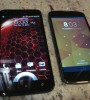 Side-by-side comparison of the HTC Droid DNA and the LG Nexus 4 (Image: Julian Boyce, DFRAGG)